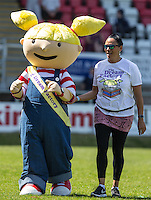 The Dream Factory Mascot during the 'Greatest Show on Turf' Celebrity Event - Once in a Blue Moon Events at the London Borough of Barking and Dagenham Stadium, London, England on 8 May 2016. Photo by Kevin Prescod.