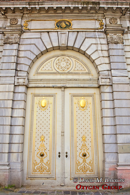 Doors ot the Dolmabahce Palace
