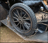 BNPS.co.uk (01202 558833)<br /> Pic: PhilYeomans/BNPS<br /> <br /> Spare tyre.<br /> <br /> Garage that time forgot...<br /> <br /> Business is booming at Neil Tuckets time warp garage in the heart of Buckinghamshire - Where you can by any car&hellip;as long as its a Model T Ford.<br /> <br /> Despite his newest models being nearly 90 years old, Neil struggles to keep up with demand with customers snapping up one a week, despite their rudimentary levels of comfort and trim.<br /> <br /> Neil sources his spares from all over the globe and carefully puts the machines back together again.<br /> <br /> 'There like a giant meccano set really, and so beautifully simple and reliable they just won't let you down...You also don't require road tax or and MOT!'