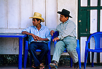 Local people, Santiago Atitlan, Lake Atitlan (Lago de Atitlan), Western Highlands, Guatemala