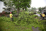 Forestry Crews clean up storm damage on Brandford Road in Whippany, New Jersey