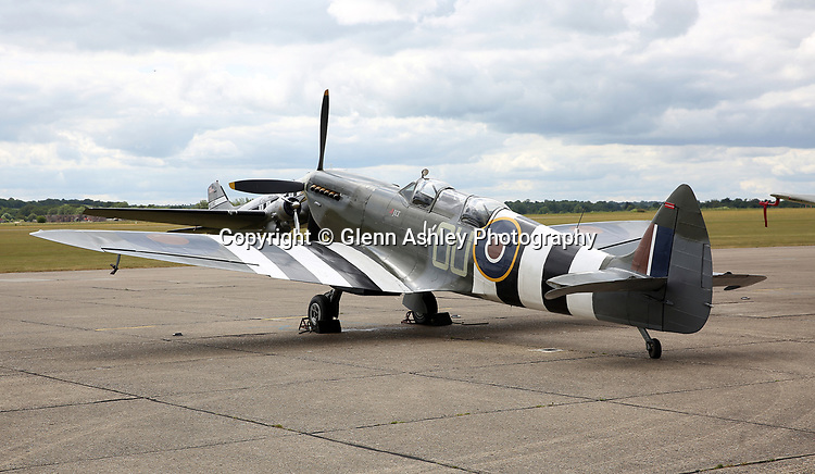 Supermarine Spitfire TR9, ML407/OU-V, in 405 Sqn markings RAF at the 75th Anniversary of the D-Day Landings, Duxford, United Kingdom, 5th June 2019. Photo by Glenn Ashley Photography
