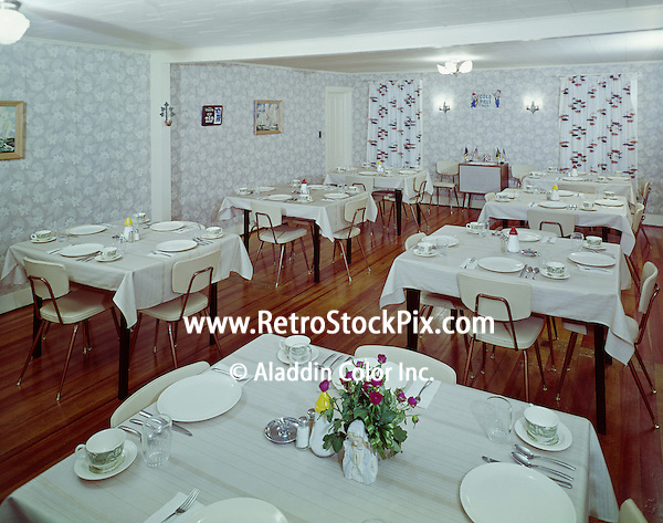 Alpine House, East Durham, MA. Dining Room. 1958.