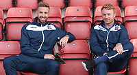 Bolton Wanderers' Mark Beevers and Bolton Wanderers' Chris Taylor<br /> <br /> Photographer Rachel Holborn/CameraSport<br /> <br /> The Carabao Cup - Crewe Alexandra v Bolton Wanderers - Wednesday 9th August 2017 - Alexandra Stadium - Crewe<br />  <br /> World Copyright &copy; 2017 CameraSport. All rights reserved. 43 Linden Ave. Countesthorpe. Leicester. England. LE8 5PG - Tel: +44 (0) 116 277 4147 - admin@camerasport.com - www.camerasport.com