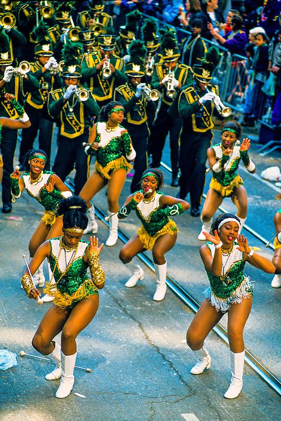 Zulu Parade, Mardi Gras, St. Charles Avenue, New Orleans, Louisiana USA