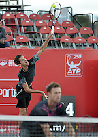 BOGOTA -COLOMBIA. 22-07-2015. Mate Pavic (CRO) y Michael Venus (NZL) durante juego de dobles contra Alejandro Falla (COL)  y Alejandro Gomez (COL) de primera ronda del ATP Claro Open Colombia 2015 jugado en el Centro de Alto Rendimiento en Bogota./ Mate Pavic (CRO) and Michael Venus (NZL) during doubles match against Alejandro Falla (COL) and Alejandro Gomez (COL) for the first round of ATP Claro Open Colombia 2015 played at Centro de Alto Rendimiento in Bogota city. Photo: VizzorImage/ Gabriel Aponte / Staff