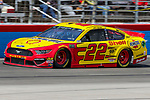 Monster Energy NASCAR Cup Series driver Joey Logano (22) in action during the Monster Energy NASCAR Cup Series, O'Reilly Auto Parts 500, race at the Texas Motor Speedway in Fort Worth,Texas.