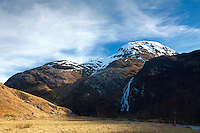 An Gearanach, An Steall and the River Nevis from Steall Meadows, Glen Nevis, Lochaber