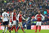 10th February 2018, Wembley Stadium, London England; EPL Premier League football, Tottenham Hotspur versus Arsenal; A dejected Alexandre Lacazette of Arsenal