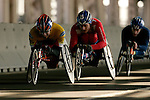 Aaron Gordon (MEX) leads a small pack of racers across the Queensboro bridge from Queens into Manhattan during the ING New York City Marathon in New York, New York on November 4, 2007.  Kurt Fearnley (AUS) won the race with a time of 1:33:58.