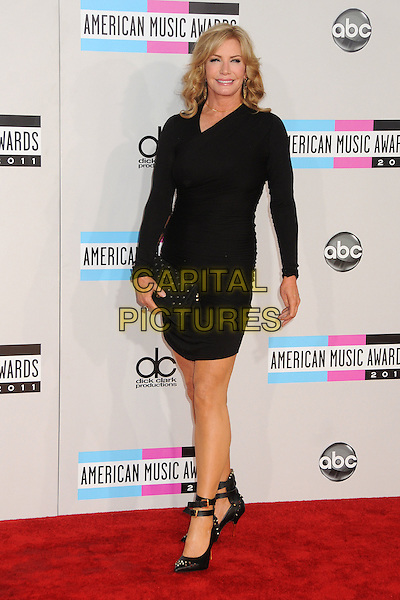 Shannon Tweed.2011 American Music Awards - Arrivals held at Nokia Theatre LA Live, Los Angeles, California, USA..November 20th, 2011.ama amas ama's full length black dress clutch bag.CAP/ADM/BP.©Byron Purvis/AdMedia/Capital Pictures.