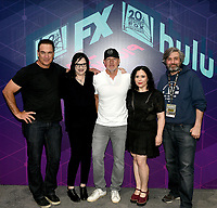 FOX FAN FAIR AT SAN DIEGO COMIC-CON© 2019: L-R: FAMILY GUY Cast Member Patrick Warburton, Executive Producer Kara Vallow, Cast Members Mike Henry and Alex Borstein and Executive Producer Alec Sulkin during the FAMILY GUY booth signing on Saturday, July 20 at the FOX FAN FAIR AT SAN DIEGO COMIC-CON© 2019. CR: Alan Hess/FOX © 2019 FOX MEDIA LLC