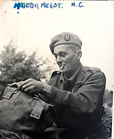 BNPS.co.uk (01202 558833)<br /> Pic: Bosleys/BNPS<br /> <br /> Major Robert Melot MC of the 1st SAS.<br /> <br /> Sold for £25,000 - An extraordinary wartime archive that lift's the veil on the earliest days of the SAS during WW2.<br /> <br /> The late Fred Casey was among the original dozen members of the 1st Special Air Service that was formed in North Africa to wreak havoc behind enemy lines.<br /> <br /> The commando's military possessions included a remarkable album containing previously unseen images of the founding members of the elite force.<br /> <br /> Legendary Captain David Stirling, who formed the 'Who Dares Wins' regiment, and hand-picked the men under his command, is pictured along with his controversial deputy Paddy Mayne , who took over the top secret regiment after Stirling's capture.<br /> <br /> The album sold at Bosley's Auctioneers of Marlow, Bucks, last week for over five times its pre-sale estimate..