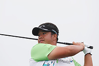 Kiradech Aphibarnrat (THA) tees off on the 12th hole during the Wednesday practice round of the 118th U.S. Open Championship at Shinnecock Hills Golf Club in Southampton, NY, USA. 13th June 2018.<br /> Picture: Golffile | Brian Spurlock<br /> <br /> <br /> All photo usage must carry mandatory copyright credit (&copy; Golffile | Brian Spurlock)