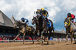 August 22, 2020: Super Dude #3, ridden by Irad Ortiz Jr.LUIS SAEZ, wins the 4th race on The  FourStarDave day at Saratoga Race Course in Saratoga Springs, New York. Rob Simmons/CSM