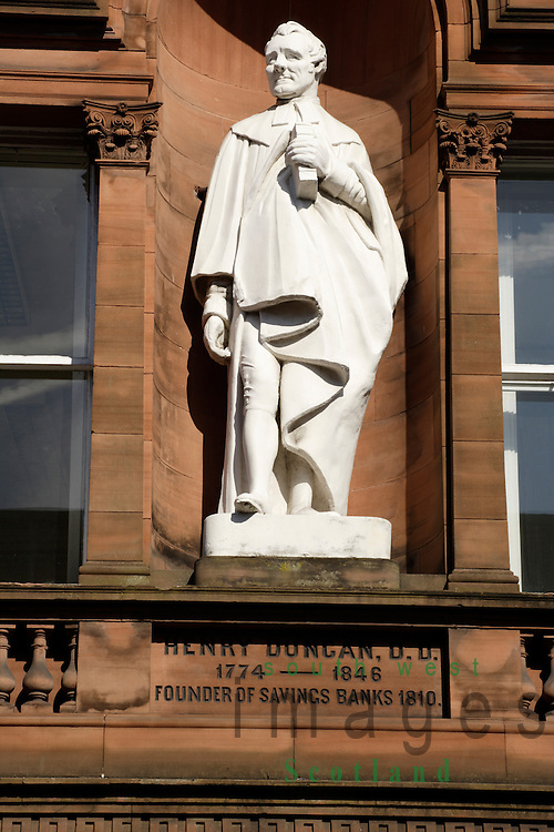 Statue of Henry Duncan Founder of Savings Banks in Dumfries Scotland UK