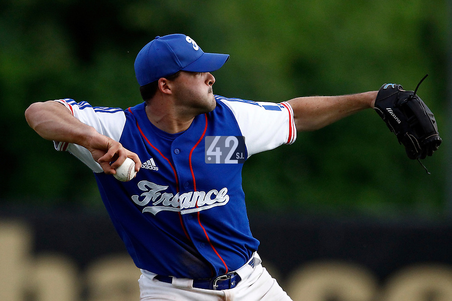 21 June 2011: Vincent Ferreira of Team France is seen during Czech Republic 3-1 win over France, at the 2011 Prague Baseball Week, in Prague, Czech Republic.