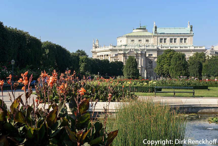 Burgtheater und Volksgarten in Wien, &Ouml;sterreich, UNESCO-Weltkulturerbe<br /> Burgtheater and Volksgarten, Vienna, Austria, world heritage