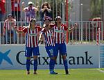 Atletico de Madrid Femenino's Esther Gonzalez, Amanda Sampedro and Carmen Menayo celebrate goal during Liga Femenina Endesa - Women League match. May 20,2017. (ALTERPHOTOS/Inma Garcia)