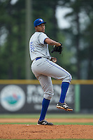 Bluefield Blue Jays starting pitcher Angel Perdomo (51) in action against the Bluefield Blue Jays at Burlington Athletic Park on July 1, 2015 in Burlington, North Carolina.  The Royals defeated the Blue Jays 5-4. (Brian Westerholt/Four Seam Images)