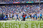 Dublin players celebrate winning the All Ireland Senior Football Final 2011 over Kerry in Croke Park on Sunday 18th September 2011.