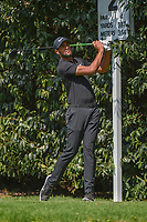Tony Finau (USA) watches his tee shot on 2 during round 3 of the World Golf Championships, Mexico, Club De Golf Chapultepec, Mexico City, Mexico. 3/3/2018.<br /> Picture: Golffile | Ken Murray<br /> <br /> <br /> All photo usage must carry mandatory copyright credit (&copy; Golffile | Ken Murray)