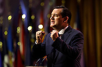 Washington, D.C. 5 March, 2014. Senator Ted Cruz of Texas pictured during the 2014 CPAC conference. Cruz is seeking the Republican nomination for President. photo by Trevor Collens