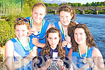 Killorglin Rowing Club Under 14 Quad rowers who won medals at the Carlow Regatta on Sunday l-r: Caoimhe O'Sullivan, Meadbh O'Sullivan, Katie Fay, Niamh McSweeney and Maeve McGillicuddy