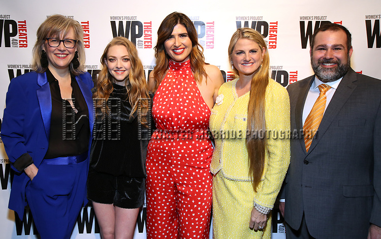 Lisa McNulty, Amanda Seyfried, Emily Warren, Bonnie Comley, Michael Sagg attends the WP Theater's 40th Anniversary Gala -  Women of Achievement Awards at the Edison Hotel on April 15, 2019  in New York City.