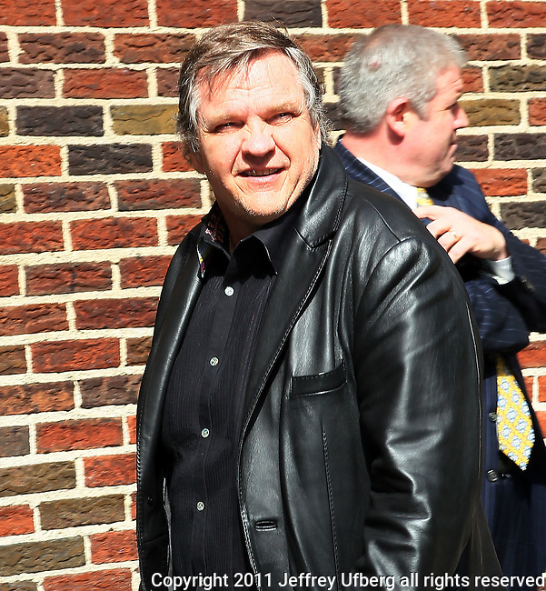 "April 27, 2011 New York: Singer/Musician Meatloaf visits ""Late Show with David Letterman"" at Ed Sullivan Theatre on April 27, 2011 in New York"
