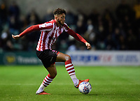 Lincoln City's Kellan Gordon<br /> <br /> Photographer Chris Vaughan/CameraSport<br /> <br /> The EFL Checkatrade Trophy Northern Group H - Lincoln City v Wolverhampton Wanderers U21 - Tuesday 6th November 2018 - Sincil Bank - Lincoln<br />  <br /> World Copyright © 2018 CameraSport. All rights reserved. 43 Linden Ave. Countesthorpe. Leicester. England. LE8 5PG - Tel: +44 (0) 116 277 4147 - admin@camerasport.com - www.camerasport.com