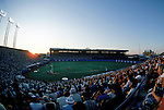 TORONTO - 1985:  Right field view of Exhibition Stadium with the Blue Jays on the field at sunset circa 1985 in Toronto, Canada. (Photo by Rich Pilling)