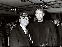 Montreal (QC) CANADA file photo - 1994<br /> <br /> <br />  : Serge Losique, Pierre Brousseau