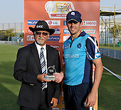T20 World Cup Qualifying match - Scotland V Uganda at the ICC Global Cricket Academy - Dubai - a second tournament Man of the Match award for Calum MacLeod - Scotland won by 34 runs - Picture by Donald MacLeod  15.3.12  07702 319 738  clanmacleod@btinternet.com