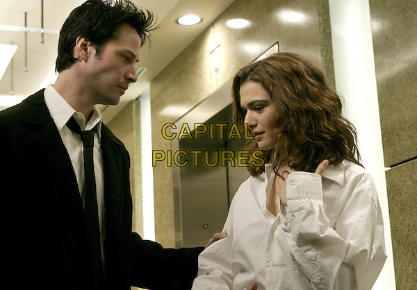 KEANU REEVES & RACHEL WEISZ .in Constantine.*Editorial Use Only*.www.capitalpictures.com.sales@capitalpictures.com.Supplied by Capital Pictures.