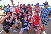 Fans in the entertainment zone. Day two of the 2020 HSBC World Sevens Series Hamilton at FMG Stadium in Hamilton, New Zealand on Sunday, 26 January 2020. Photo: Dave Lintott / lintottphoto.co.nz