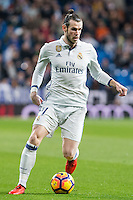 Garet Bale of Real Madrid in action  during the match of Spanish La Liga between Real Madrid and UD Las Palmas at  Santiago Bernabeu Stadium in Madrid, Spain. March 01, 2017. (ALTERPHOTOS / Rodrigo Jimenez) /NortePhoto.com