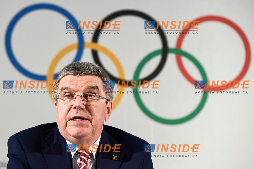 Thomas Bach Presidente del CIO <br /> Losanna 03-06-2016 Executive Board del Comitato Olimpico Internazionale CIO <br /> International Olympic Committee<br /> Foto Urs Lindt/freshfocus/Insidefoto