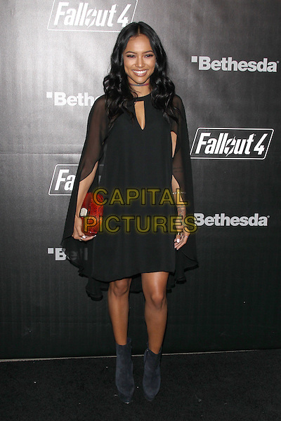 LOS ANGELES, CA - NOVEMBER 5: Karrueche Tran at the Fallout 4 video game launch event in downtown Los Angeles on November 5, 2015 in Los Angeles, California. <br /> CAP/MPI21<br /> &copy;MPI21/Capital Pictures