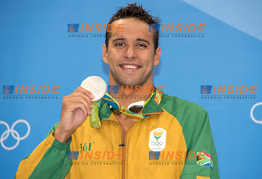 Le Clos Chad  silver<br /> 200 freestyle  men <br /> Rio de Janeiro  XXXI Olympic Games <br /> Olympic Aquatics Stadium <br /> swimming finals 08/08/2016<br /> Photo Giorgio Scala/Deepbluemedia/Insidefoto