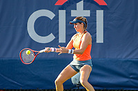 Washington, DC - August 3, 2019:  Maria Sanchez (USA) in action during the  Women Doubles finals at William H.G. FitzGerald Tennis Center in Washington, DC  August 3, 2019.  (Photo by Elliott Brown/Media Images International)