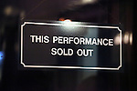 This Performance Sold Out sign during the Broadway Opening Night Performance Curtain Call for 'Cat On A Hot Tin Roof' at the Richard Rodgers Theatre in New York City on 1/17/2013
