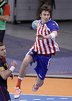 BM Atletico de Madrid's Jonas Kallman during ASOBAL League match.December 08 ,2012. (ALTERPHOTOS/Acero) /NortePhoto