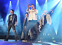 COCONUT CREEK, FL - FEBRUARY 28: (L-R)  Jeff Timmons, Drew Lachey, Nick Lachey and Justin Jeffre of 98 Degrees perform on stage at Seminole Casino Coconut Creek on February 28, 2020 in Coconut Creek, Florida. ( Photo by Johnny Louis / jlnphotography.com )