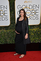 Saffron Burrows at the 74th Golden Globe Awards  at The Beverly Hilton Hotel, Los Angeles USA 8th January  2017<br /> Picture: Paul Smith/Featureflash/SilverHub 0208 004 5359 sales@silverhubmedia.com