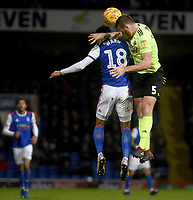 Ipswich Town's Grant Ward battles with Sheffield United's Jack O'Connell<br /> <br /> Photographer Hannah Fountain/CameraSport<br /> <br /> The EFL Sky Bet Championship - Ipswich Town v Sheffield United - Saturday 22nd December 2018 - Portman Road - Ipswich<br /> <br /> World Copyright © 2018 CameraSport. All rights reserved. 43 Linden Ave. Countesthorpe. Leicester. England. LE8 5PG - Tel: +44 (0) 116 277 4147 - admin@camerasport.com - www.camerasport.com