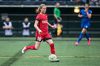 Seattle, Washington - Saturday May 14, 2016: Portland Thorns FC defender Emily Sonnett (16) during the first half of a match at Memorial Stadium on Saturday May 14, 2016 in Seattle, Washington. The match ended in a 1-1 draw.