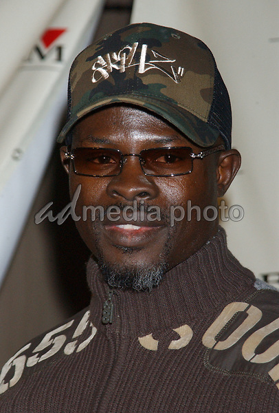 Feb. 8, 2004; Hollywood, CA, USA; Actor DJIMON HOUNSOU during the BMG 46th Annual Grammy Awards Post-Grammy Gala Celebration held at The Avalon. Mandatory Credit: Photo by Laura Farr/AdMedia. (©) Copyright 2003 by Laura Farr