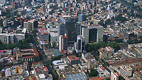 aerial Telmex headquarters in the San Rafael district of Mexico City, Mexico