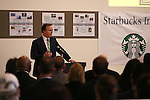 Senior Vice President John Kelly speaks at a ceremony launching the Starbucks Inclusion Academy at the Starbucks Carson Valley Roasting Plant &amp; Distributions Center in Minden, Nev., on Thursday, Jan. 29, 2015. The program, created by Starbucks and Nevada's Department of Employment, Training and Rehabilitation helps people with disabilities gain work skills and experience. <br />
